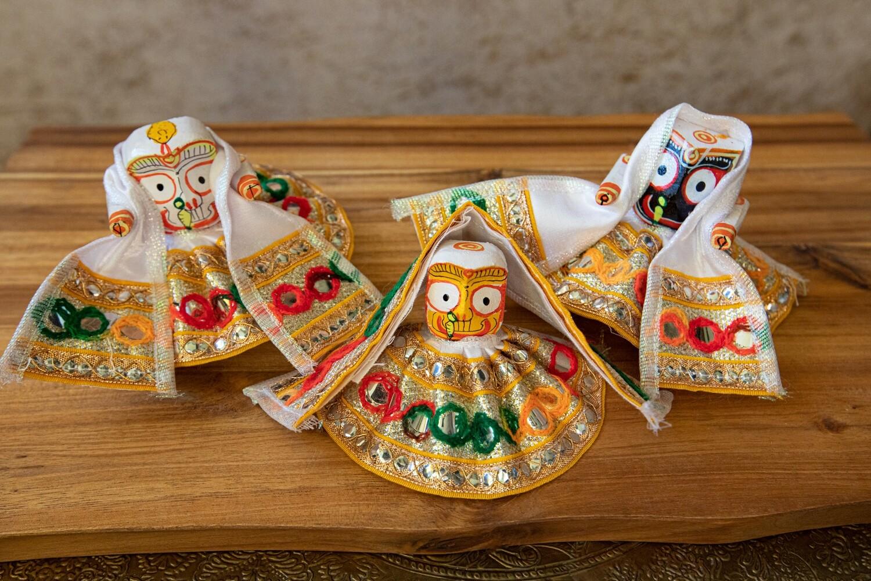 Jagannath - Subhadra - Balaram deities, wooden