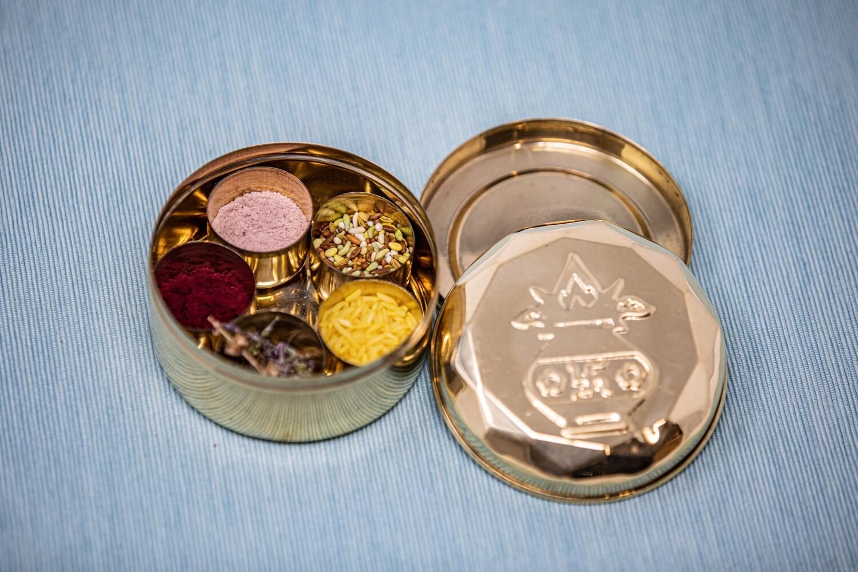 Brass Puja Box, mini