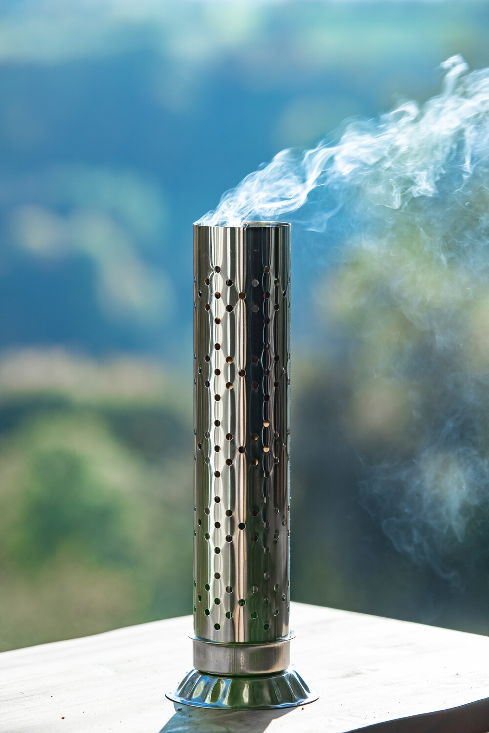 Safe Incense Stand with Ash Catcher - Stainless Steel