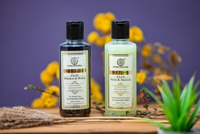 Khadi Herbal Hair Cleanser/Shampoo, SLS and Paraben Free, 210ml
