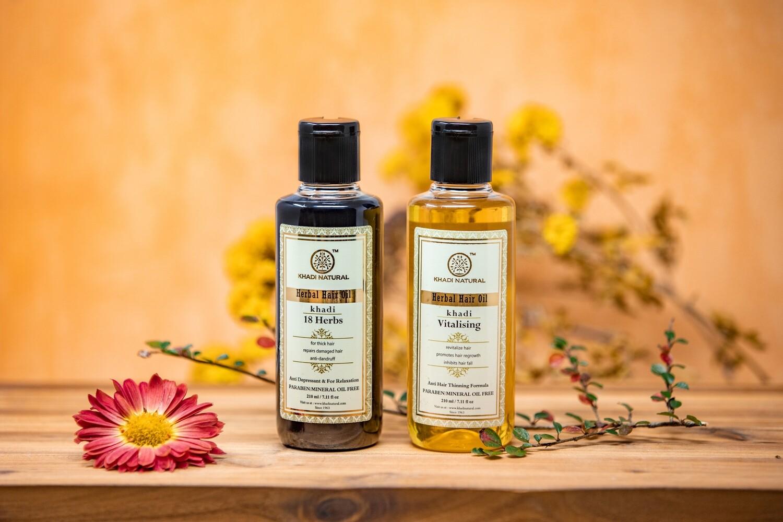 Khadi Herbal Hair Oil, Paraben/ Mineral Oil Free, 210ml