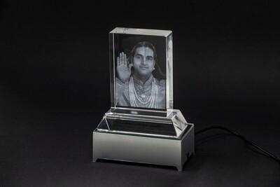 Etched Glass Photo of 'Paramahamsa Vishwananda' with a LED Light Base