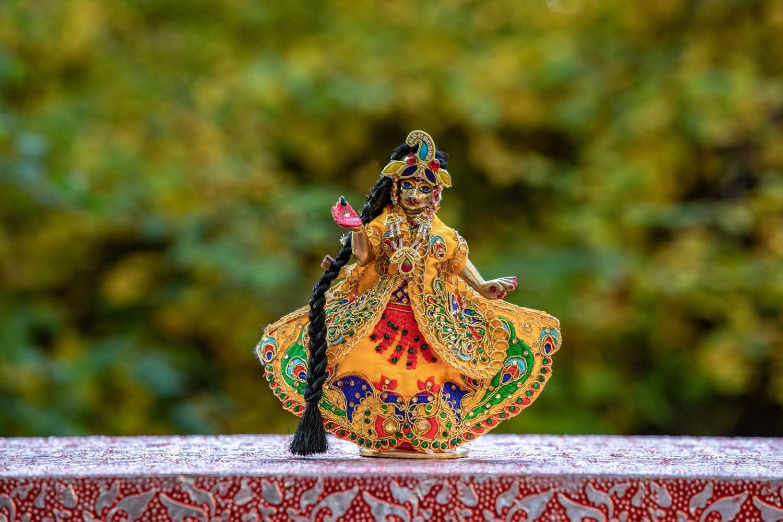Ornate Deity clothing for Devi