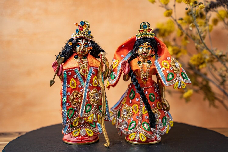Sita-Rama murtis - brass