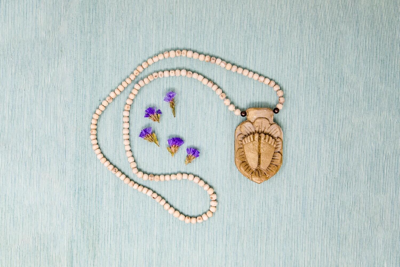 Tulsi Necklace with Prasadam Pendant