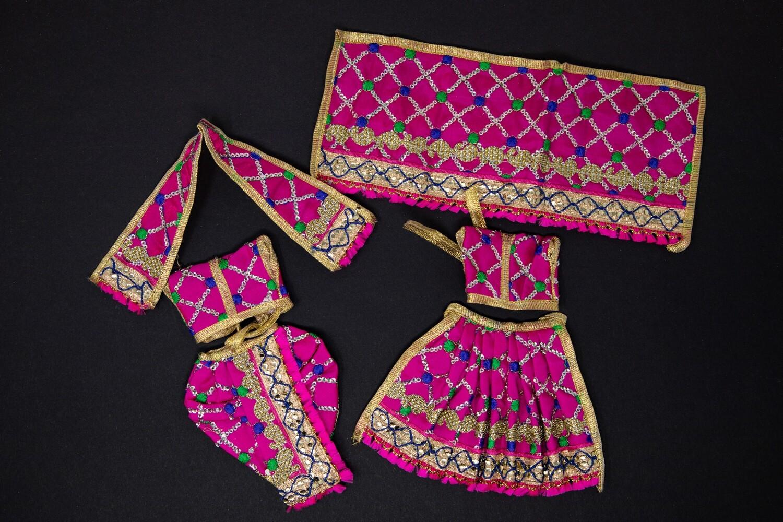 Fancy Deity Clothing for the Divine Couple - Medium