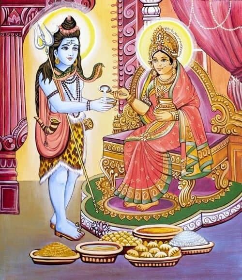 LORD SHIVA with ANNAPURNA DEVI