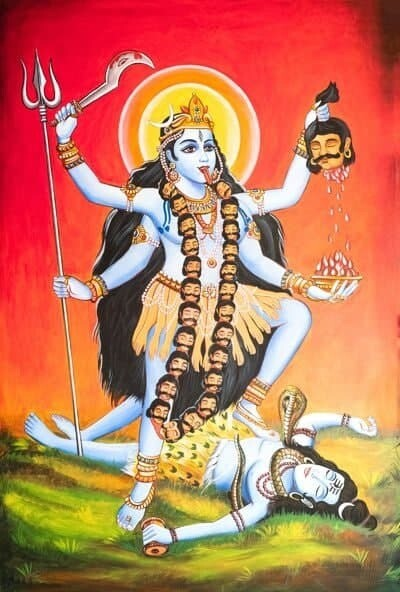 MAHAKALI with LORD SHIVA