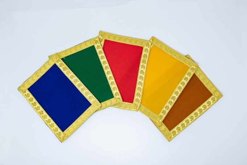 Asan cloth, plain velvet - rectangle
