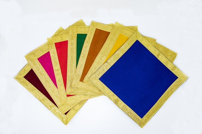 Asan cloth, plain velvet - square