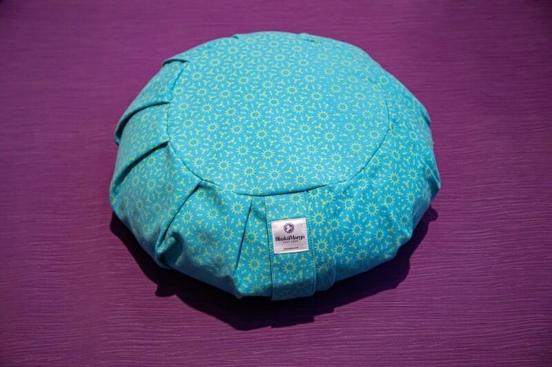 Meditation Cushion, Round pleated
