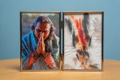 Double Picture Frame - Gurudev's Tilak