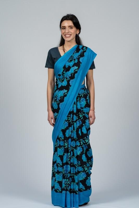 Saree - Large Floral Print