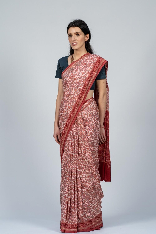 Saree - Small Floral Print
