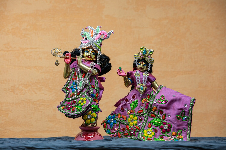 Radha-Krishna murtis - brass