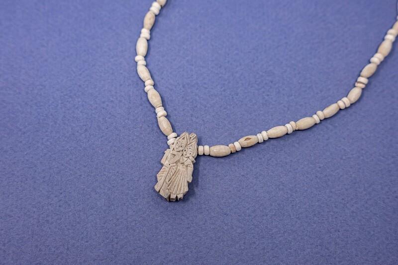 Tulsi Necklace - Radha Krishna Pendant, small