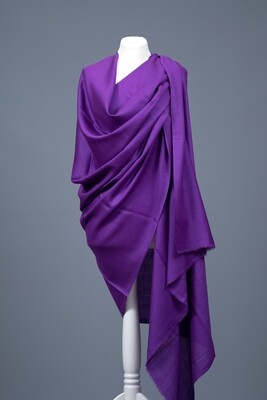 Solid Colour Wool Shawl