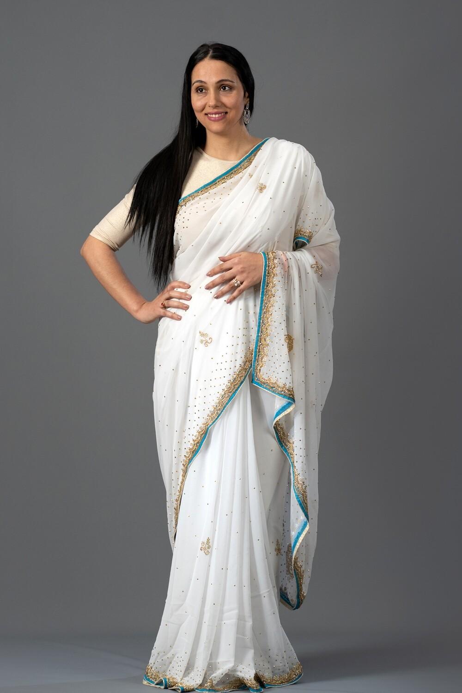 White Goddess Saree