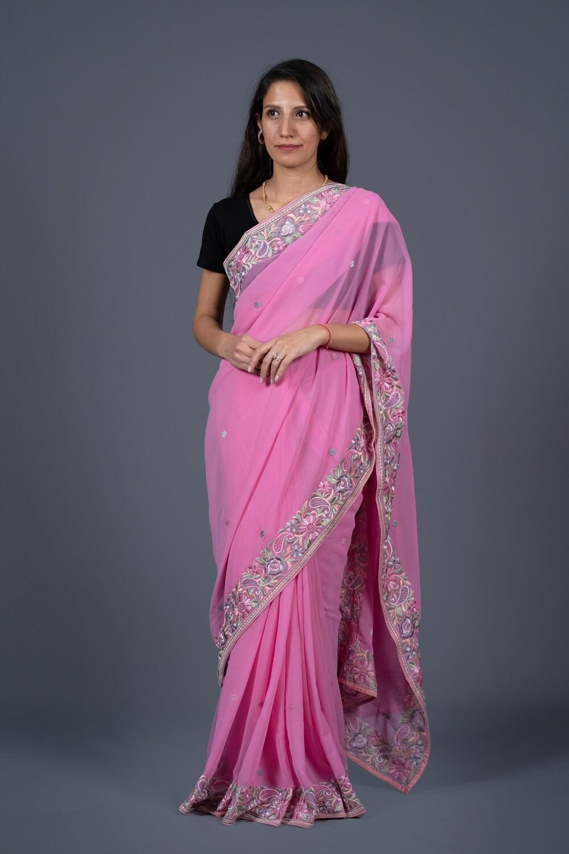 Party Pink Saree