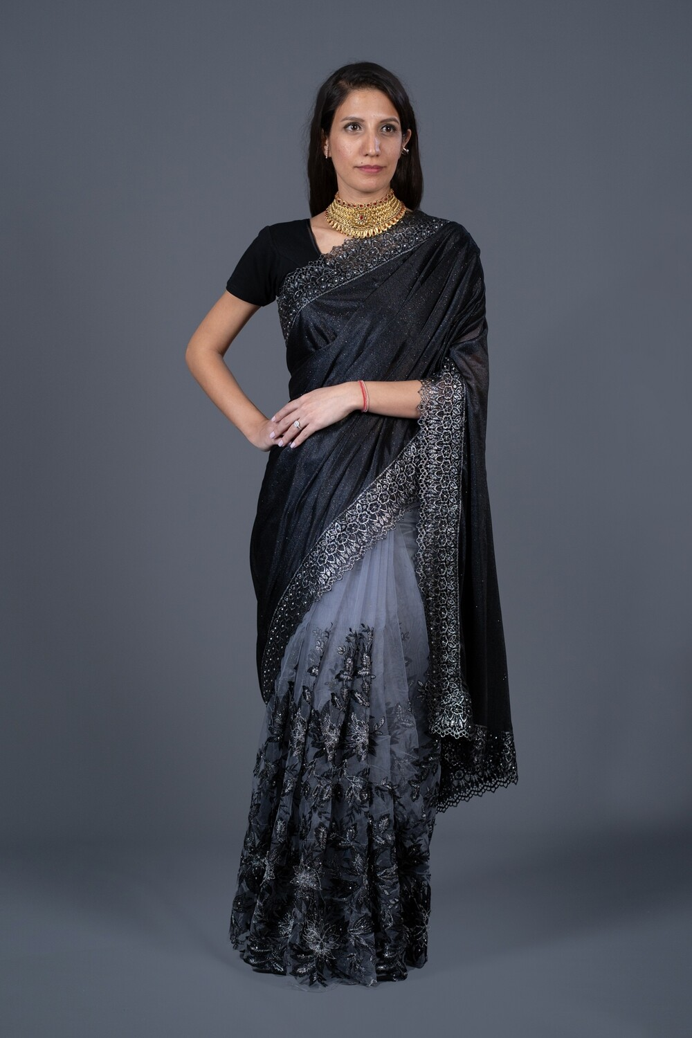 Midnight Clouds Saree