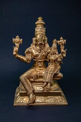 Lakshmi-Hayagriva - panchaloha - large