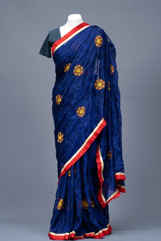 Silky Sapphire Saree