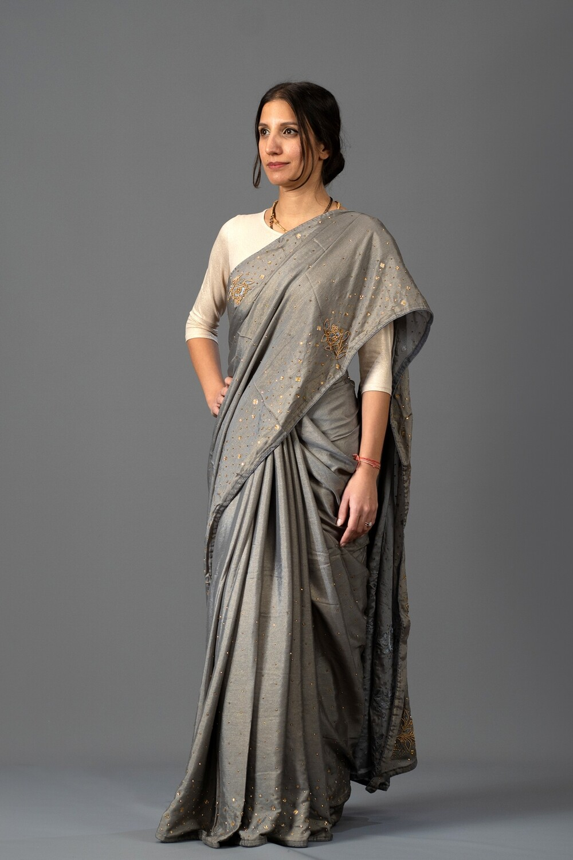 Bronze Sparkle Saree