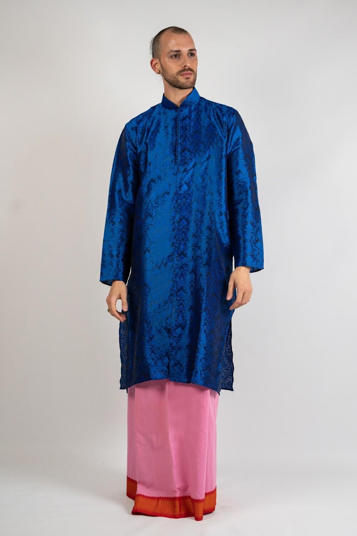 Sleek & Polished Silk Kurta, size 'XXL'