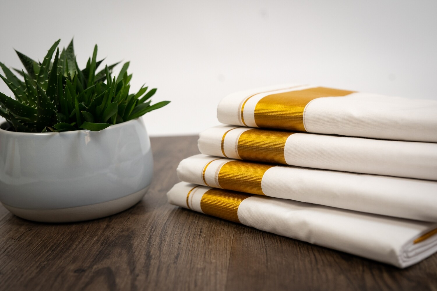Dhoti with Golden Border
