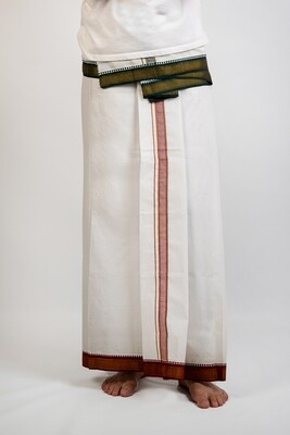 Dhoti With Colour Embroidery - 2 metres