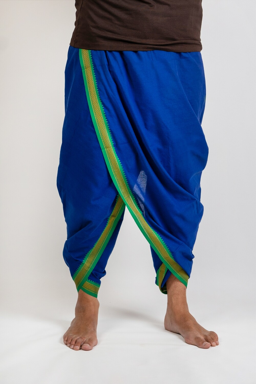 Bold Multicolour Dhoti - 4 metres