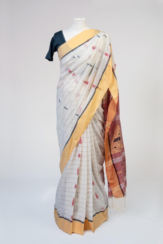 Rustic Multi-coloured Saree