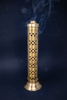 Safe Incense Stand with Ash Catcher - Brass