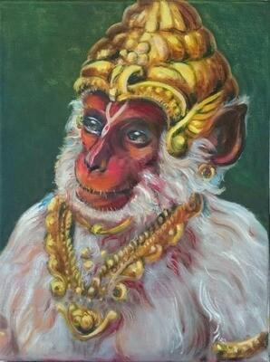Lord Hanuman covered in Sindoor