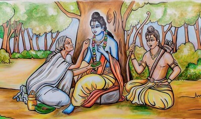 Lord Rama and Shabari