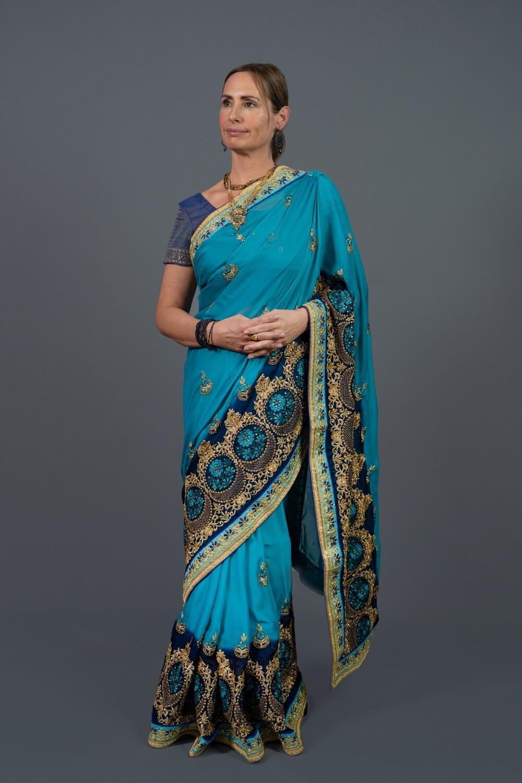 Queen Turquoise Saree