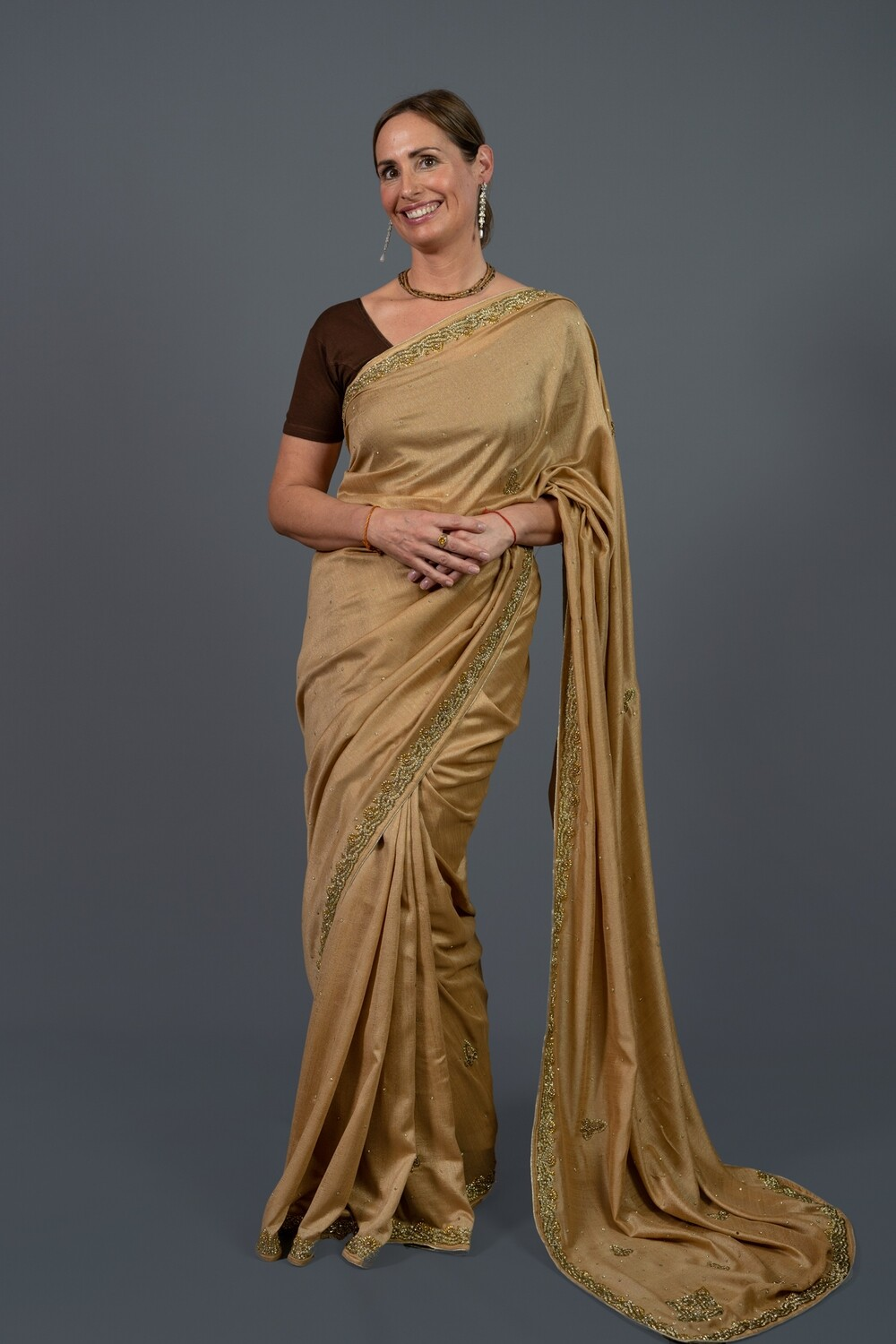 Bronze Autumn Elegance Saree