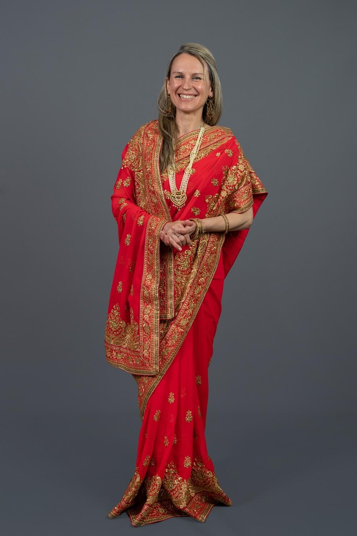 Palace Red Saree