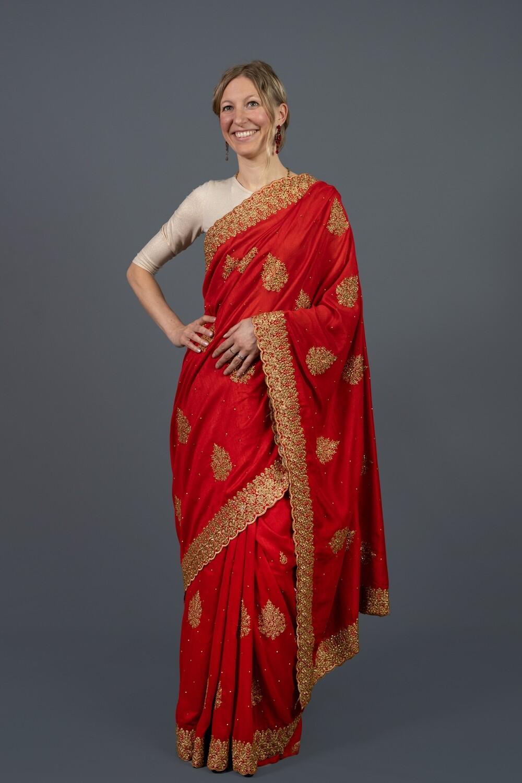 Red Elegance Saree