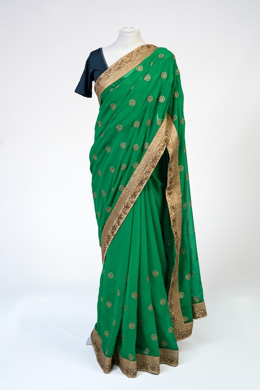 Lakshmi's Green Saree