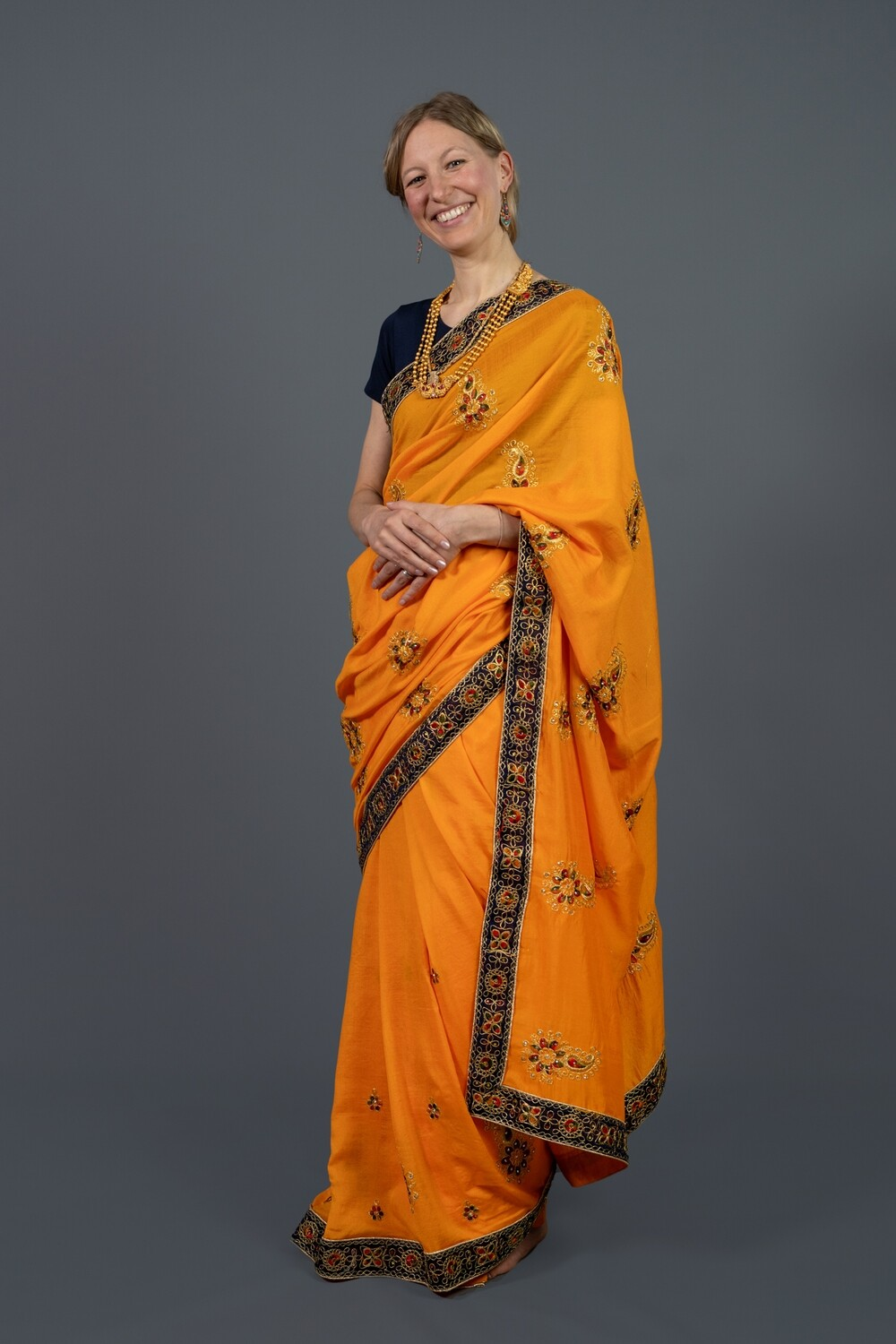 Orange Blossom Saree