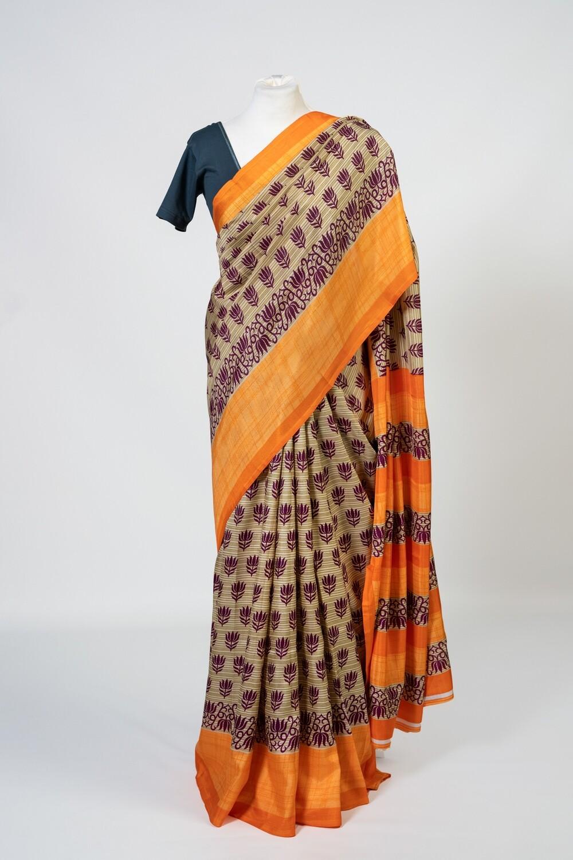 Divine Lotus Saree
