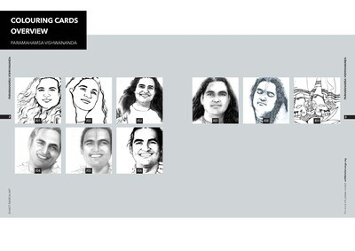 Colouring Cards 'PARAMAHAMSA VISHWANANDA'