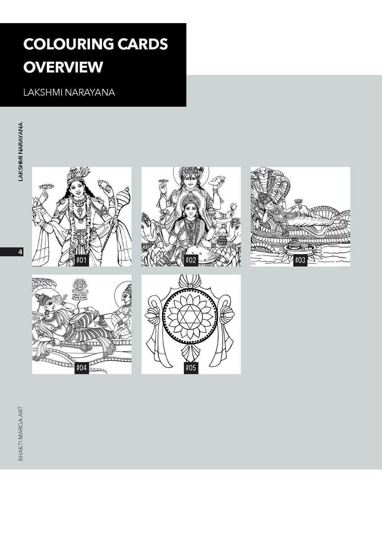 Colouring Cards 'LAKSHMI NARAYANA'