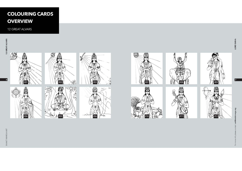 Colouring Cards '12 ALVARS'