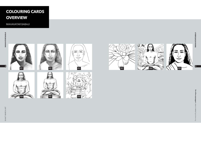 Colouring Cards 'MAHAVATAR BABAJI'