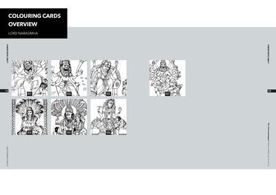 Colouring Cards 'LORD NARASIMHA'