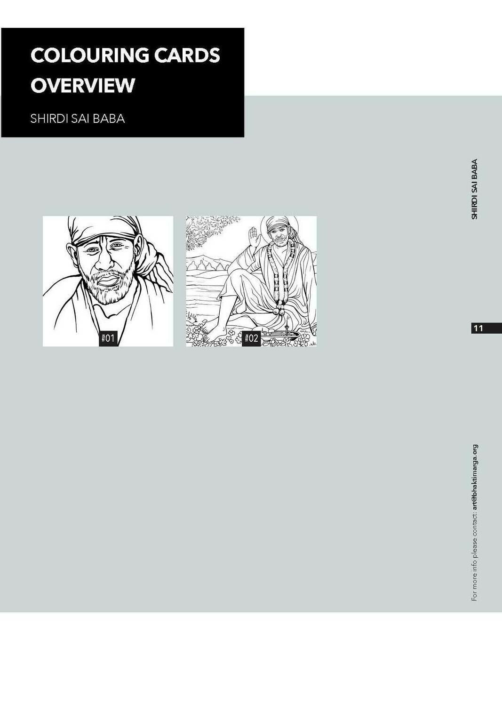 Colouring Cards 'SHIRDI SAI BABA'