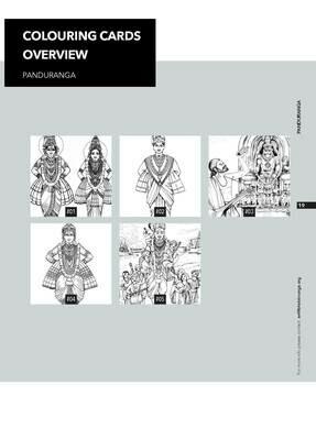Colouring Cards 'PANDURANGA'