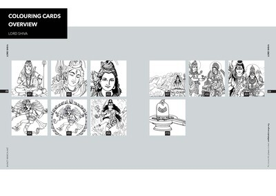 Colouring Cards 'LORD SHIVA'